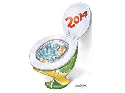 A quase totalidade dos investimentos nos estádios para a Copa 2014 é de dinheiro público (Reprodução)